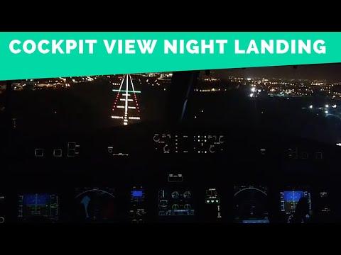Cockpit View - TAP Express ATR 72-600 Night Landing in Lisbon