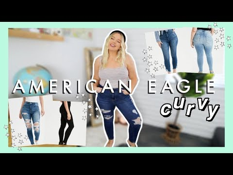AMERICAN EAGLE CURVY JEANS TRY ON