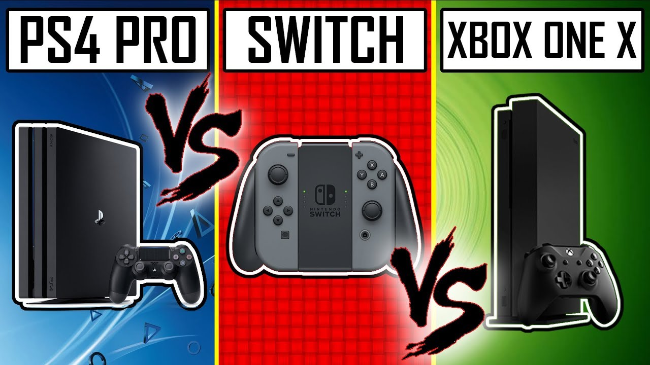 DUEL DE CONSOLE : NINTENDO SWITCH VS PS4 PRO VS XBOX ONE X