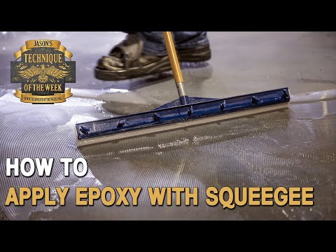 How To Apply Epoxy With Easy Squeegee | TOTW #45