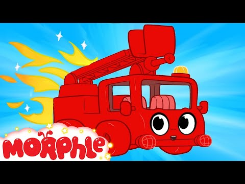 My Red Fire truck + 1 hour kids videos compilation - My Magic Pet Morphle