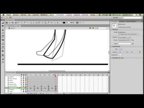 Curso De Animación Digital En Flash CS6 - Como Animar Un Personaje Caminando (Semi-Profesional)