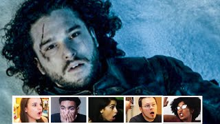 Reactors Reaction To Jon Snow Death In Game of Thrones 5x10 | Mixed Reactions