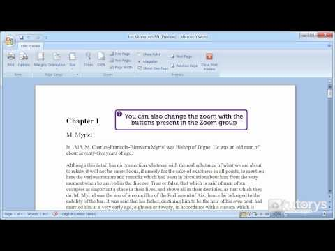 How to use print preview with Word 2007?
