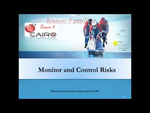 #CairoPM_PMI_RMP-Lesson 9 Monitor and Control risks إدارة المخاطر الدرس التاسع