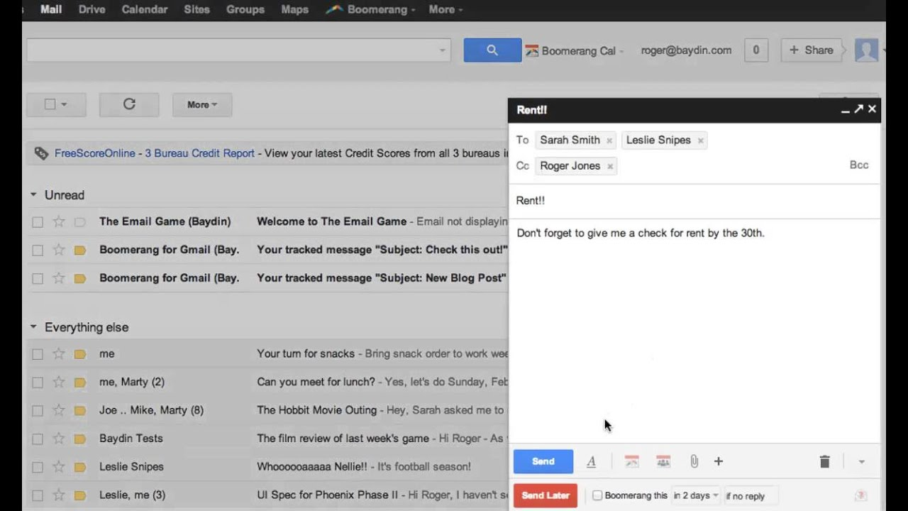 Access My Gmail Inbox boomerang for gmail - help