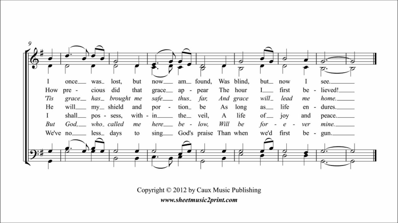 Amazing Grace - Choir SATB Sheet Music