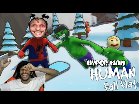 Hyper Man Human: Fall Flat Hyper King Funny Moments