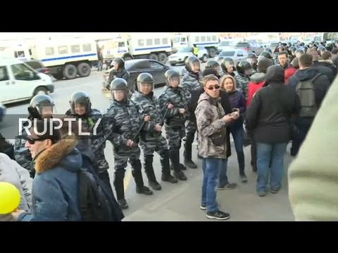 LIVE: Navalny leads unsanctioned rally against corruption in Moscow