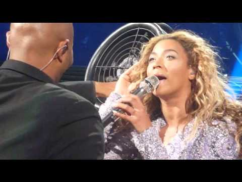 Beyonce Hair Caught In Fan Montreal