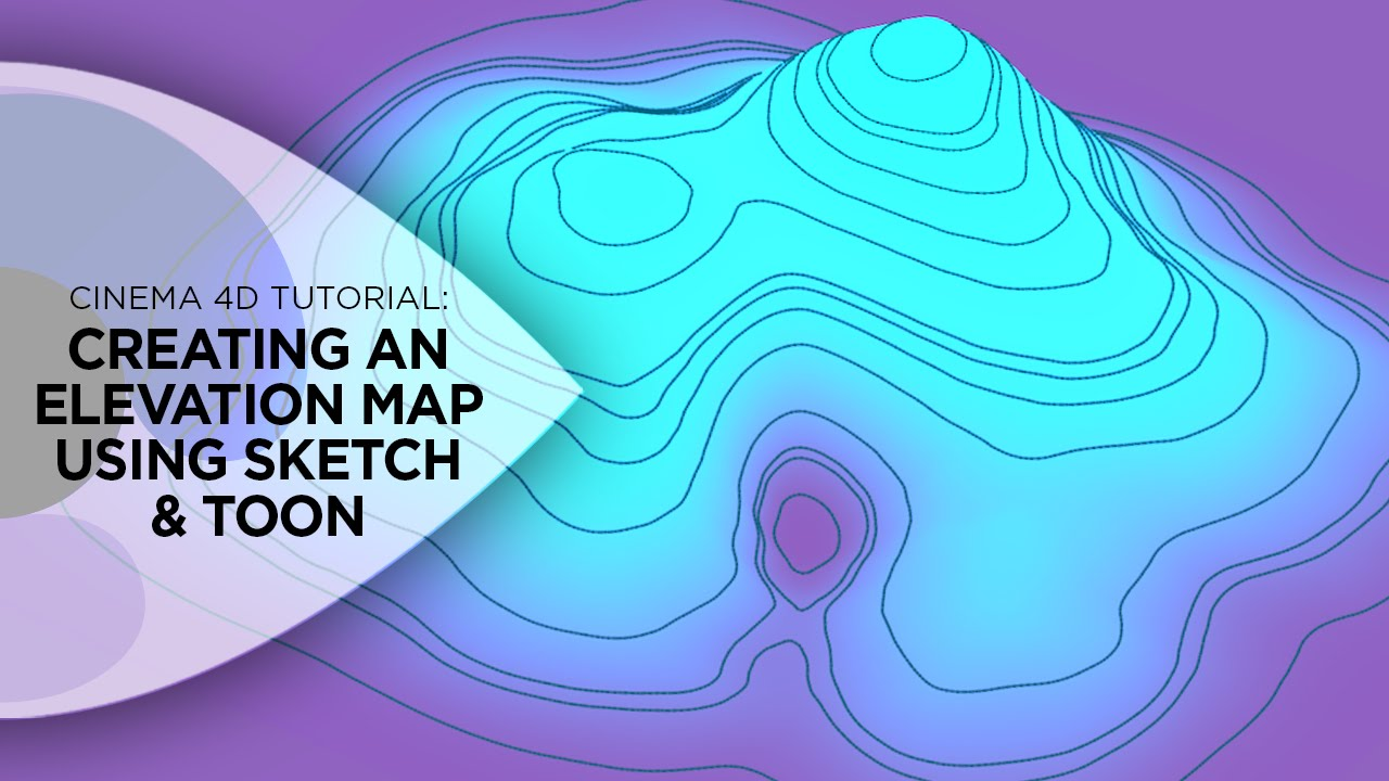 Water Elevation Map.Cinema 4d Tutorial How To Create An Elevation Map Using Cinema