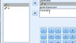 Nonlinear regression (SPSS)