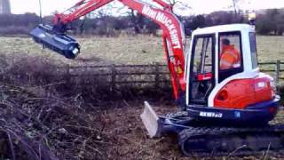 Kubota KX161-3 fitted with 1200mm Flail Attachment