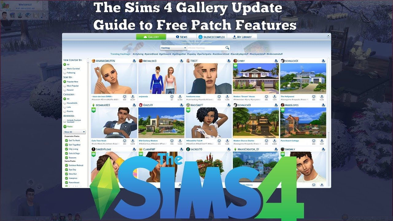The Sims 4 Gallery Guide - Sims and Houses