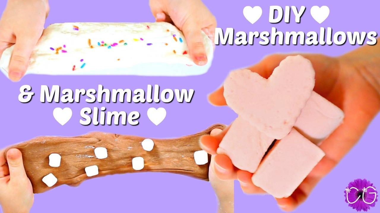 Marshmallow Slime + Diy Marshmallows!