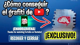 ! HOW TO GET EXCLUSIVE GRAPHITI OF YOUTUBE FOR FREE! :Fortnite: Batlle Royale Vanyoloxd