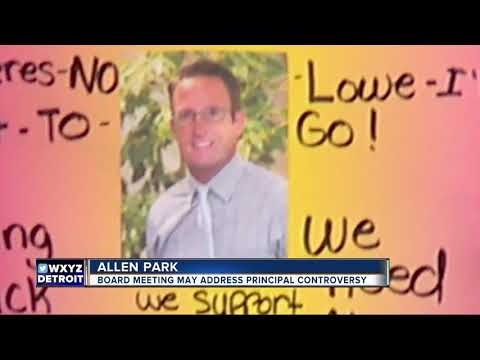 Allen Park Middle School students protesting to support principal placed on administrative leave