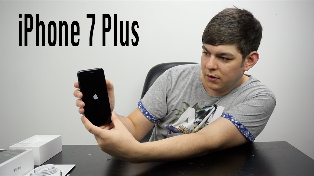 iphone 7 plus unboxing 128gb matt black youtube. Black Bedroom Furniture Sets. Home Design Ideas