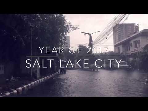 Salt lake city travel in rainy Kolkata Maa Flyover