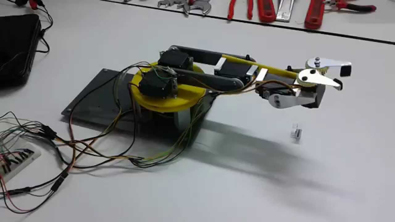 Project arduino controlled robotic arm servo