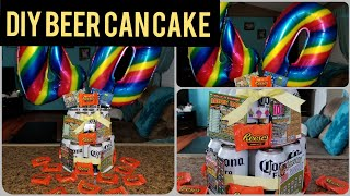 DIY BEER CAN CAKE | GIFT IDEAS FOR HUSBAND