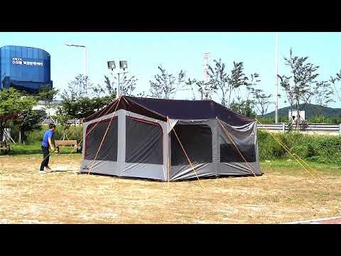 캠프타운 가든 타프 쉘 설치 동영상(garden tarp