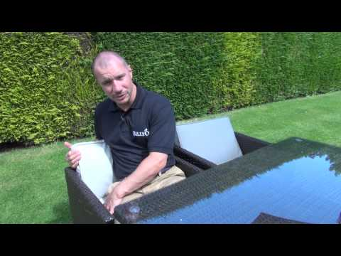 BillyOh Rosario Flat Weave Rattan Cube Dining Set Range 4 Seater