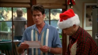 Two and a Half Men - Alan's Christmas Newsletter [HD]