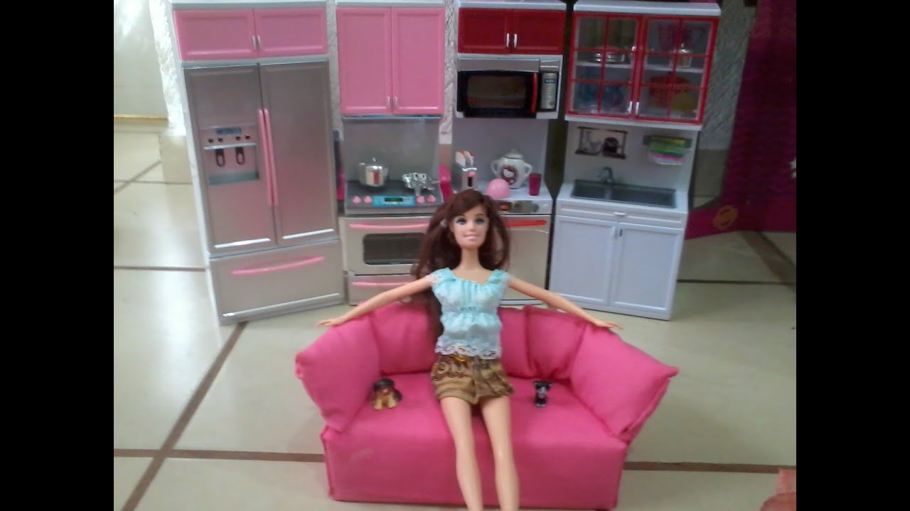 cocina de barbie kitchen barbie youtube