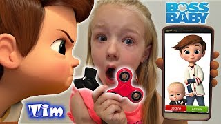 Calling The Boss Baby Brother Tim *OMG* He Answered & FREE FIDGET SPINNER GIVEAWAY