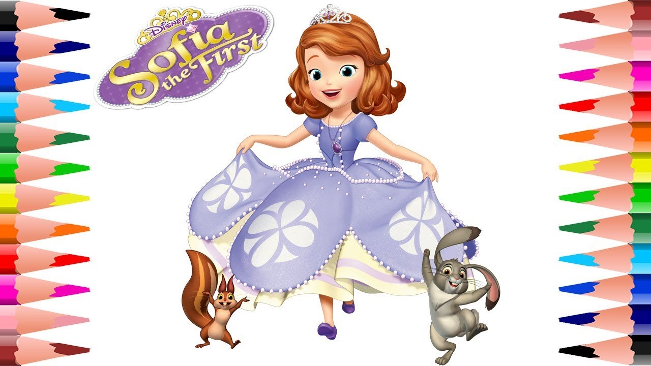coloring disney sofia the first coloring pages paint sofia the
