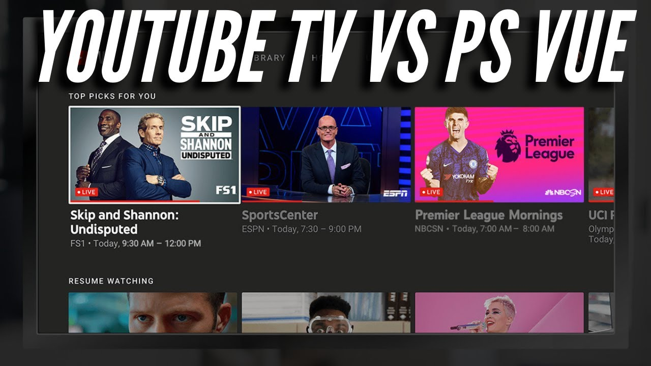 Ps Vue Vs Youtube Tv Live Streaming Service Review Youtube