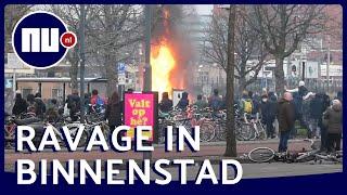 Vernielingen en brandjes: zo ziet Eindhoven eruit na rellen | NU.nl