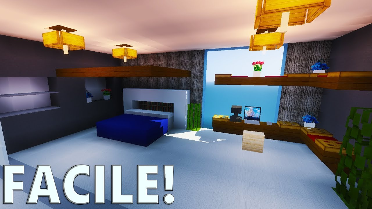 Tuto chambre moderne ultra r aliste minecraft youtube for Decoration maison moderne youtube