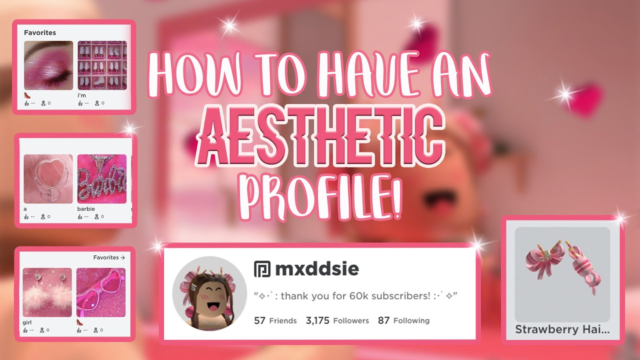 How To Have An Aesthetic Roblox Profile Mxddsie Youtube