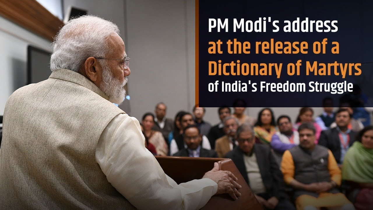PM releases Dictionary of Martyrs of India's Freedom Struggle