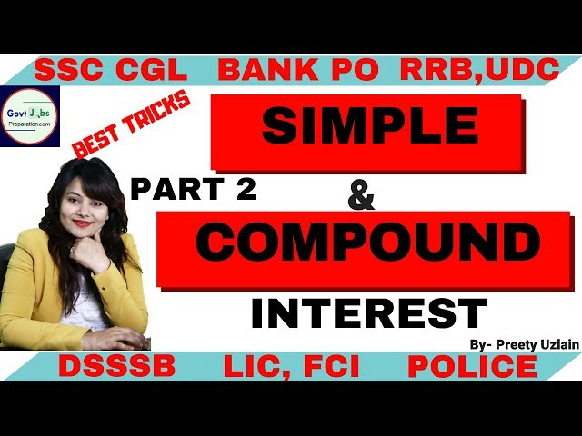 Simple & Compound Interest Part 2 | compound interest | compound interest formula |