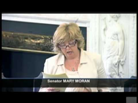Senator Mary Moran making her first speech in the Seanad
