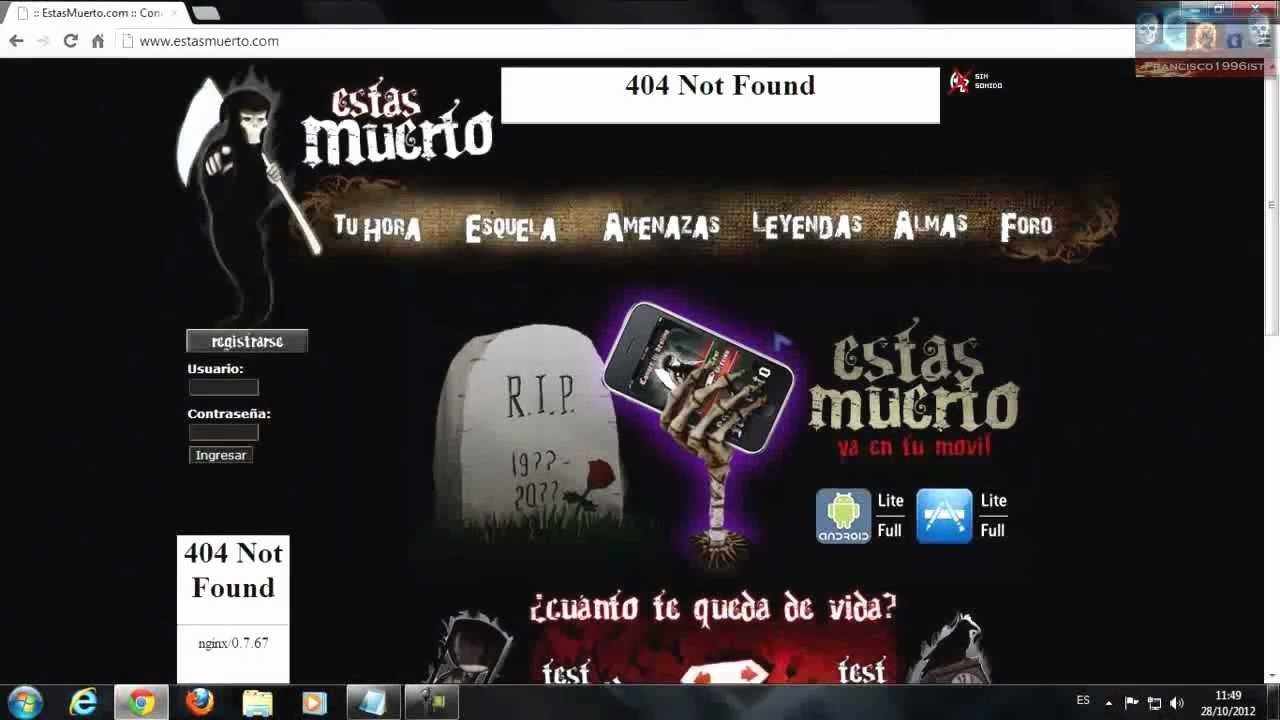 Paginas de Terror - YouTube