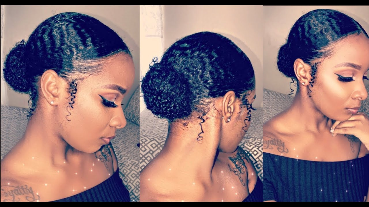 Natural Hair In A Bun How To Make It Look Awesome No Matter The Length