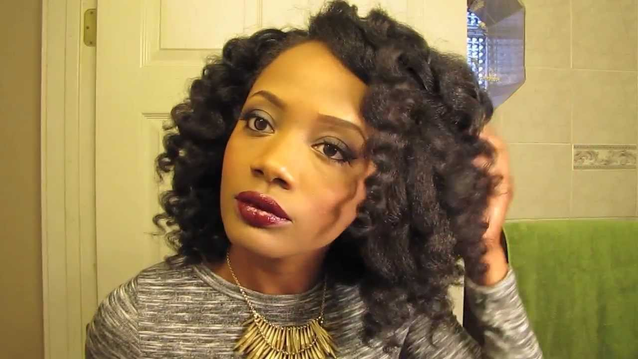 Curl Wand Tutorial For Natural Hair - YouTube