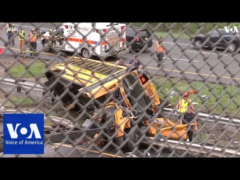 Several injured in New Jersey school bus crash
