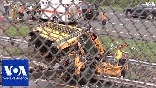 Video Several injured in New Jersey school bus crash download MP3, 3GP, MP4, WEBM, AVI, FLV Mei 2018