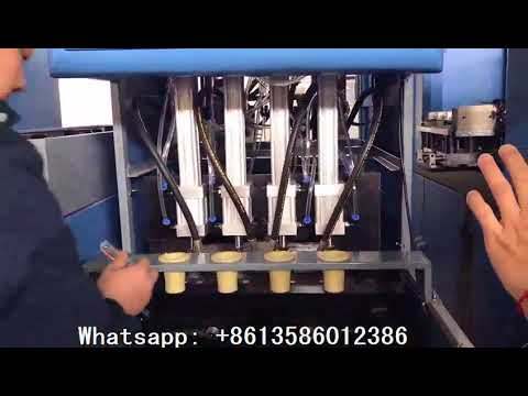 Safety Design 4 Cavity Semi Automatic PET Plastic Bottle Blowing Machine