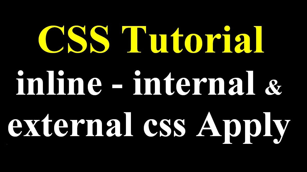 Inline style in css (hindi) youtube.