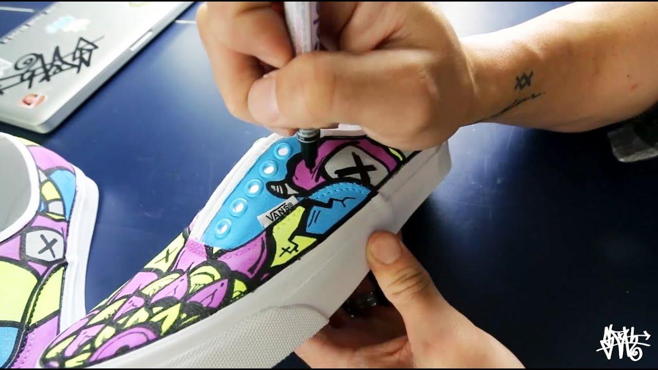f547bbb6c6 How I Make Custom Vans Shoes - YouTube