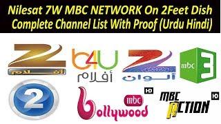 Nilesat 7W  2Feet Dish at MBC Network OK in Pakistan  (Urdu Hindi)