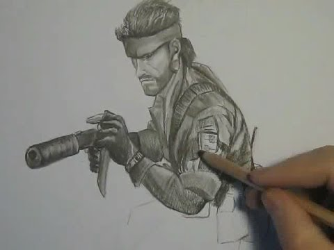 how to draw solid snake