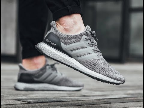 1416fdb79ef4e Ultra boost 3.0 Silver boost grey ON FOOT review - YouTube