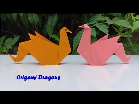 How to Make an Easy Paper Origami Dragon 🐉by Hand with DIY Paper